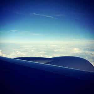 羽田行の飛行機内