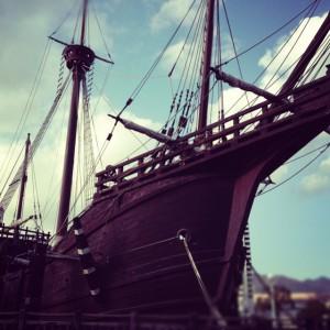 メリケンパークの船
